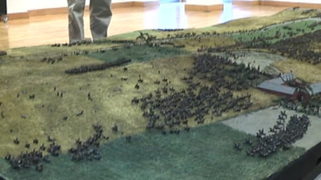 A model of part of the battlefield