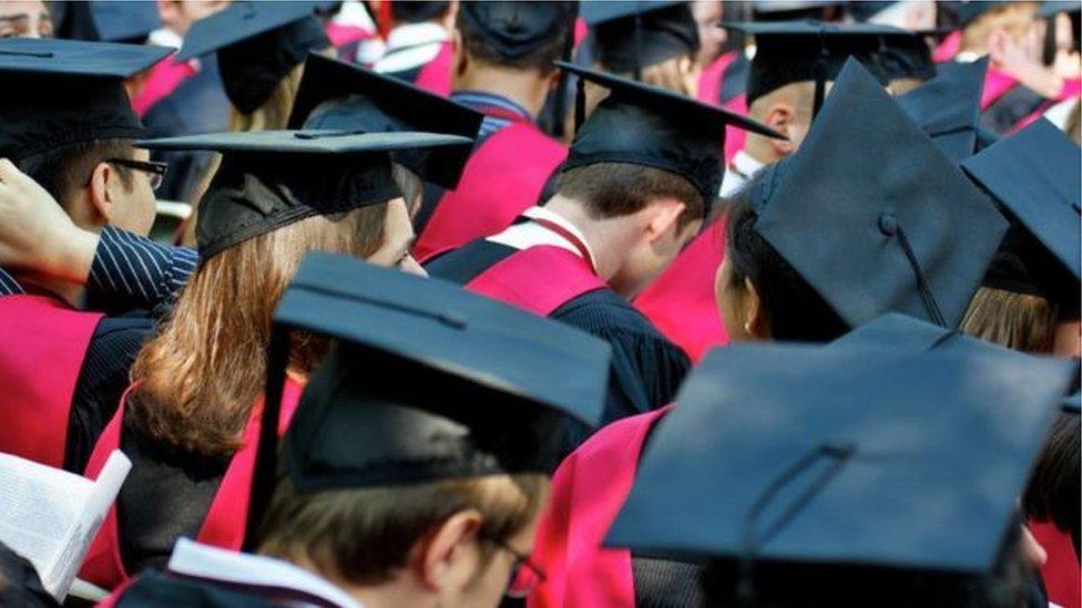 美國大學畢業生資料照片