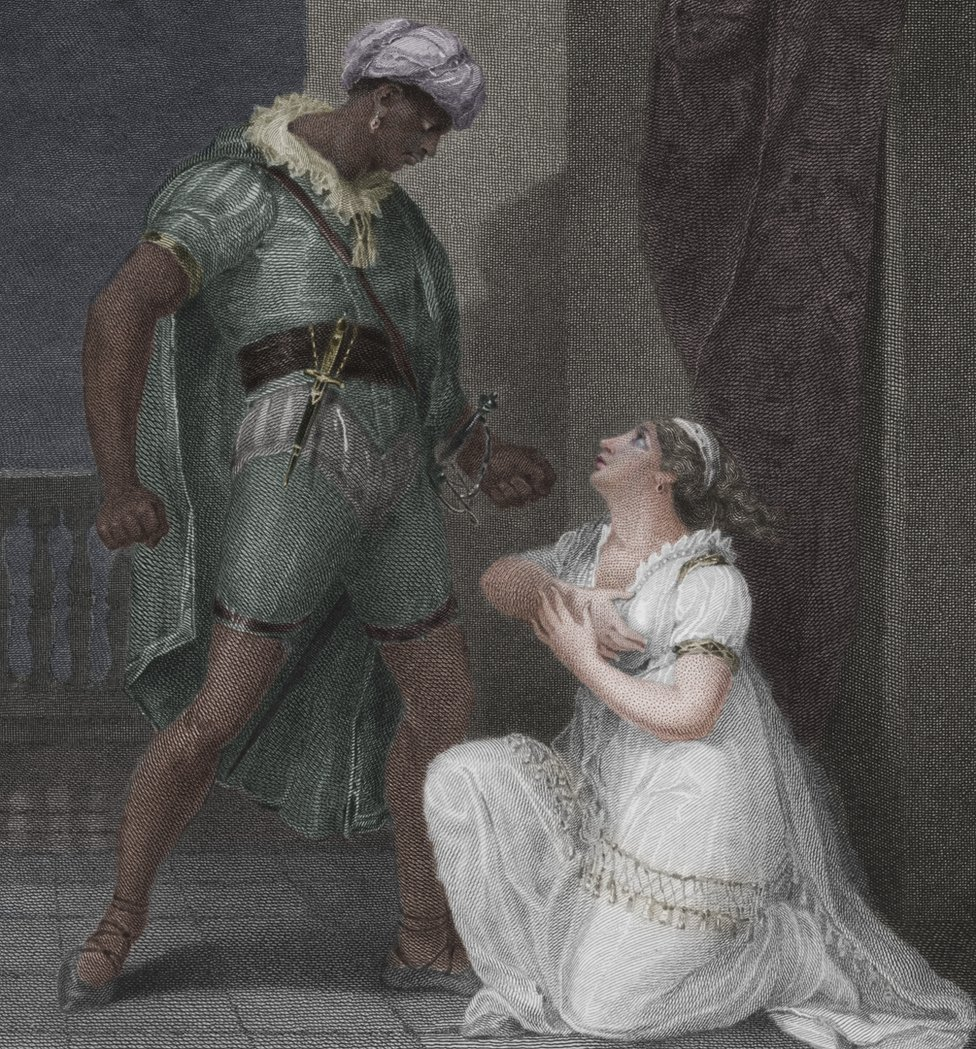 Desdemona's interracial marriage to Othello left President John Quincy Adams disgusted, even though he was in favour of abolishing slavery
