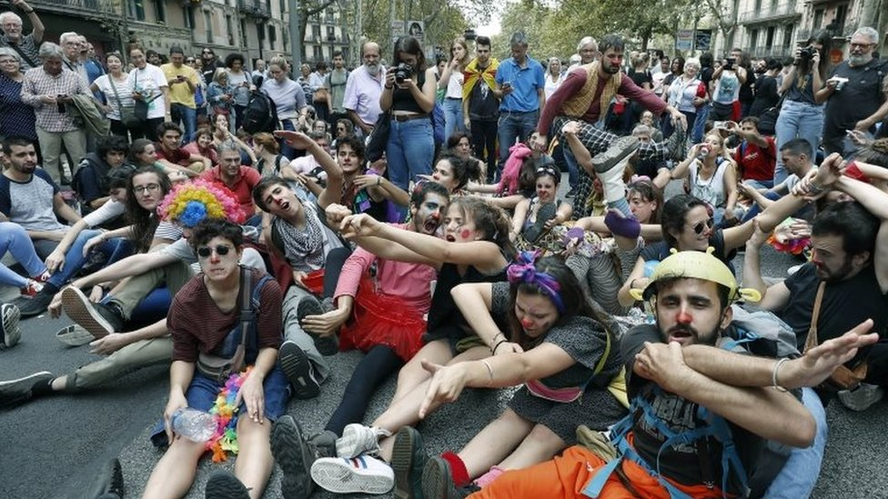 Catalan demonstrators