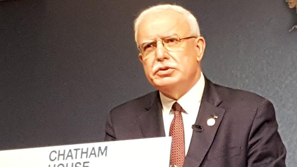 Riad Malki at Chatham House (17/05/19)
