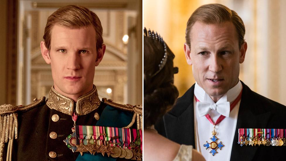 Met Smit (levo) i Tobajas Menzis igrali su princa Filipa u seriji