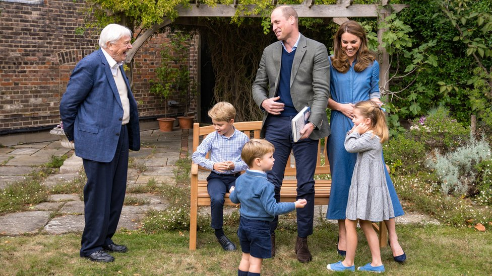 Sir David Attenborough meets the Royal Family
