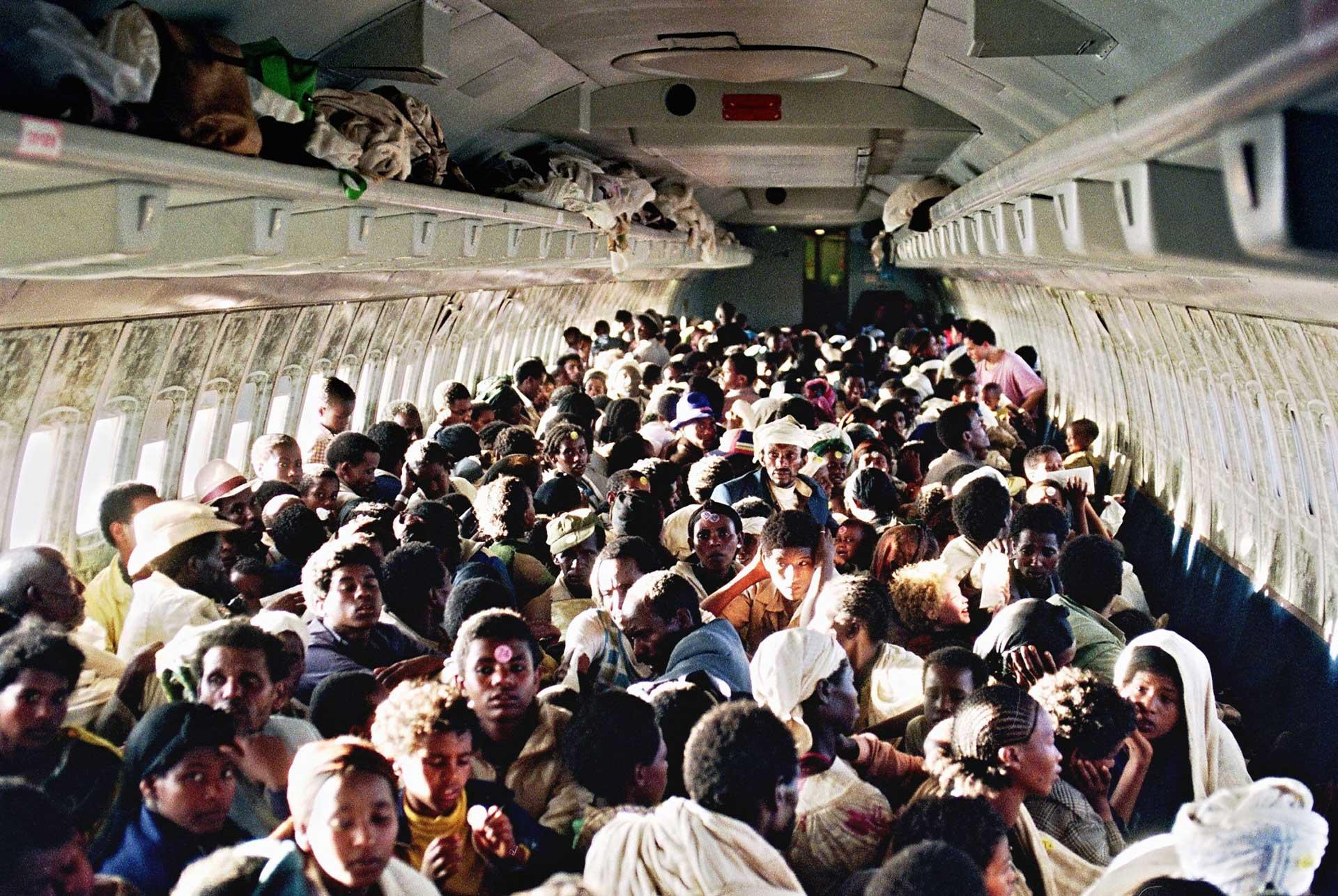 Etíopes en un Boeing 707