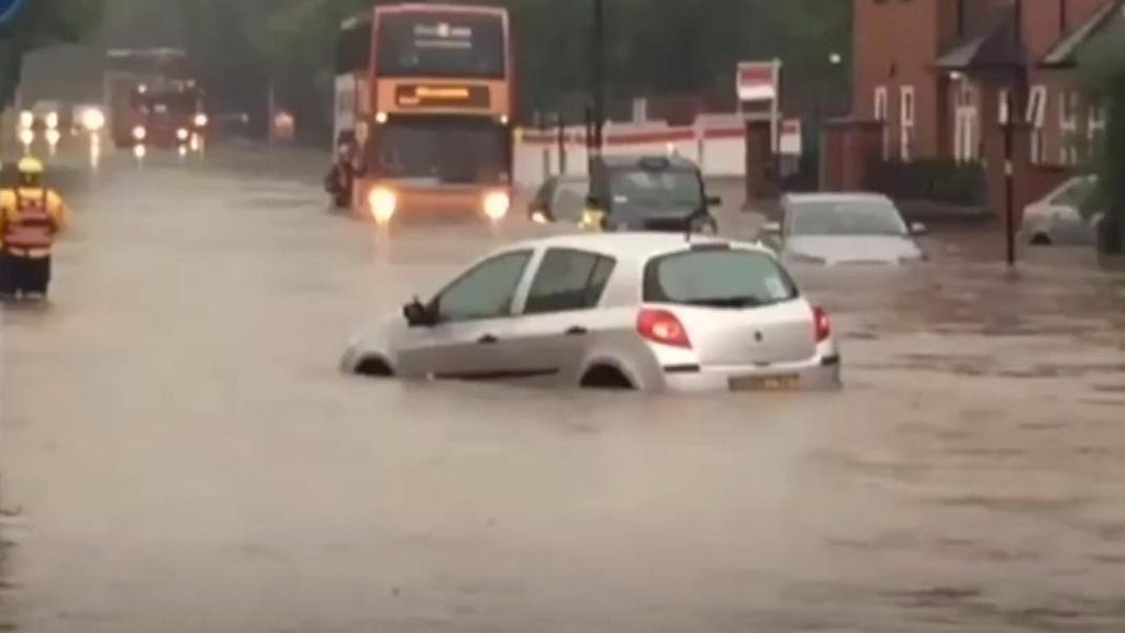 Storms cause heavy flooding in Birmingham