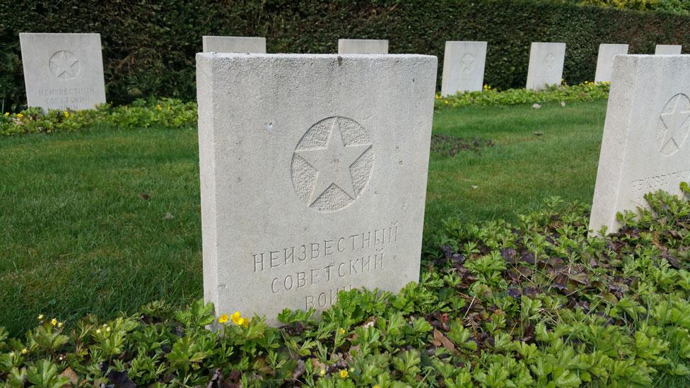Headstone of unknown Soviet soldier