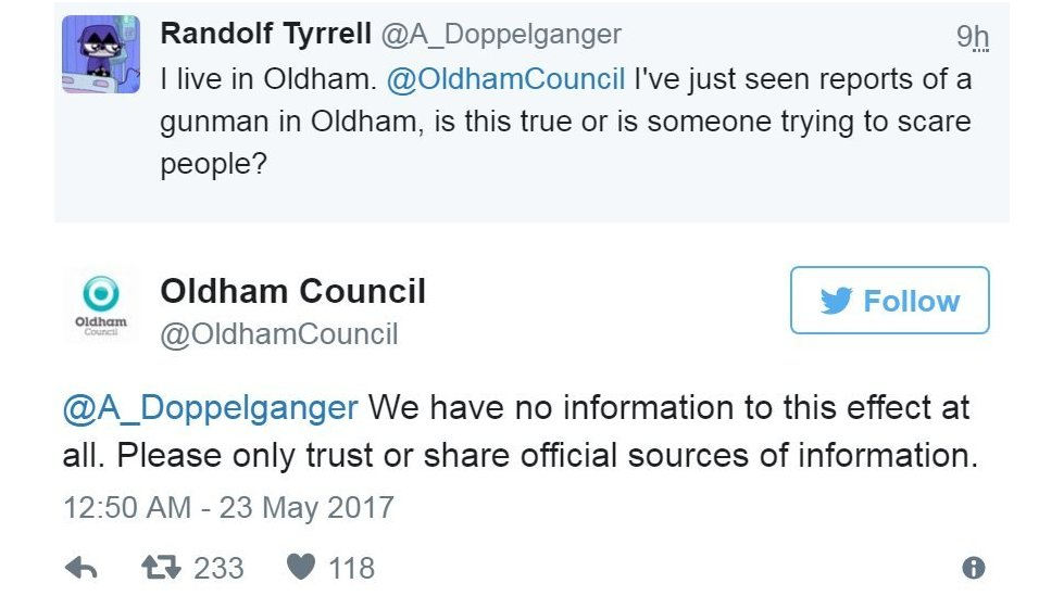 Screen grab of tweet by @OldhamCouncil
