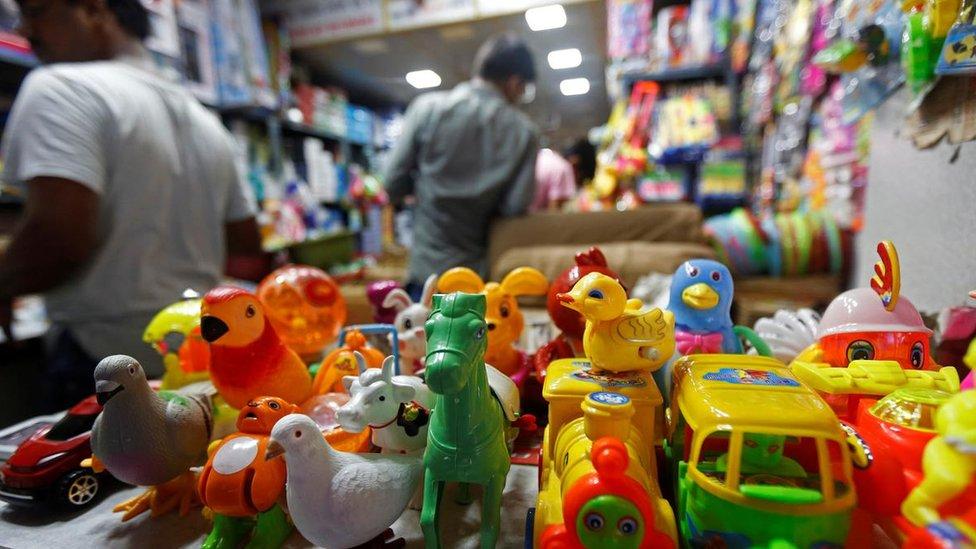 中國商品在印度隨處可見