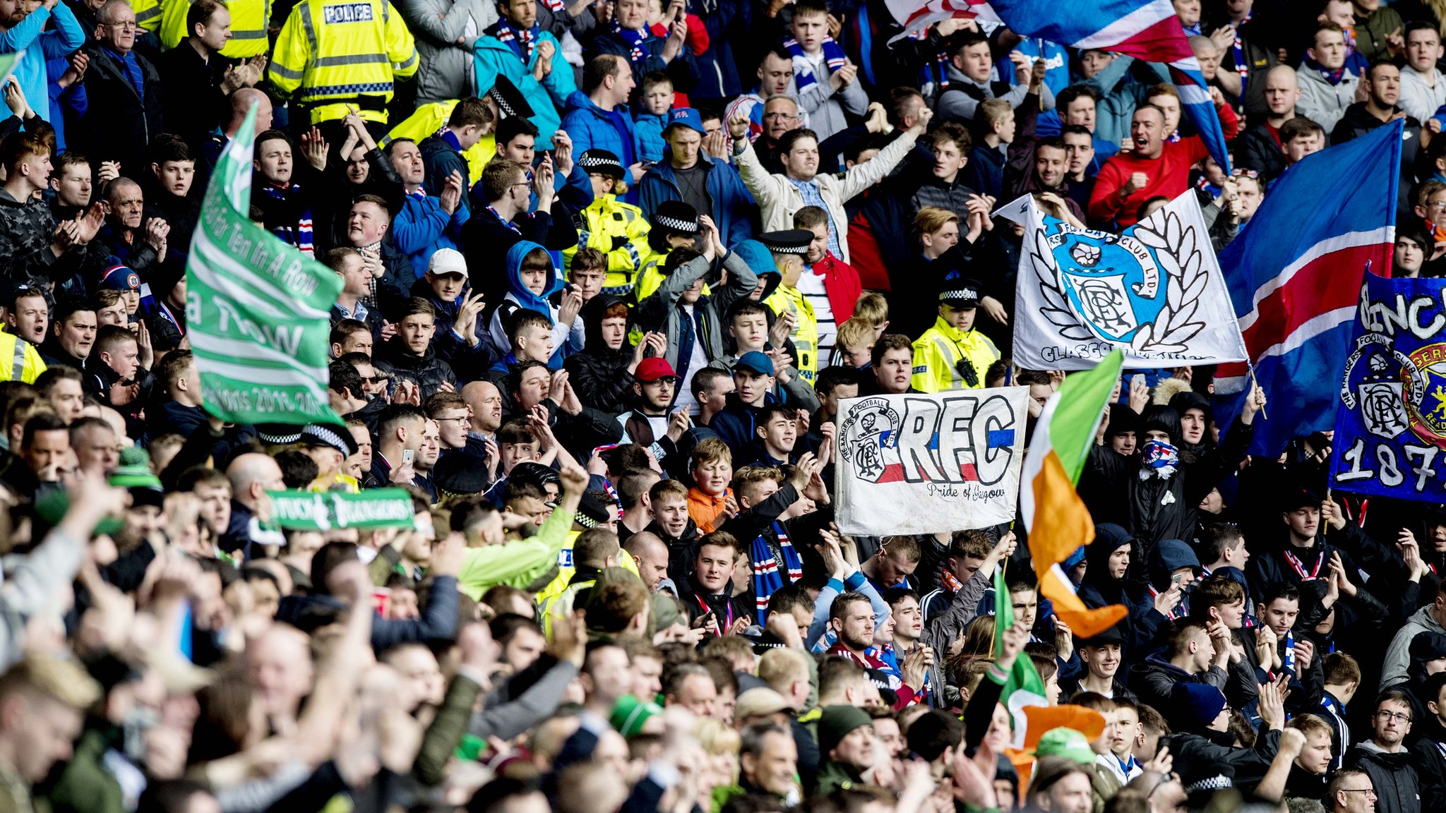 Rangers & Celtic to cut away fans for derbies
