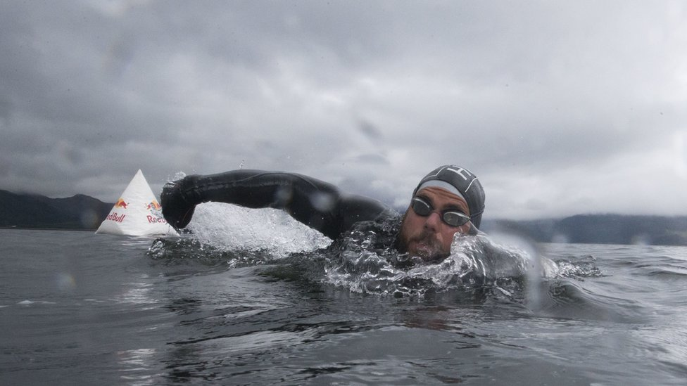 Longest staged sea swim 'record broken' by Ross Edgley
