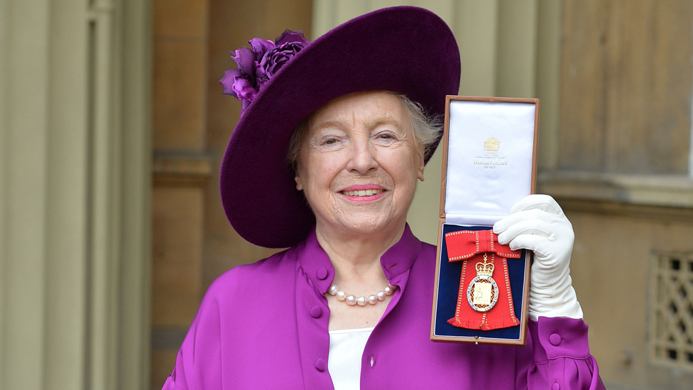 Dame Stephanie Shirley with the Order of the Companions of Honour