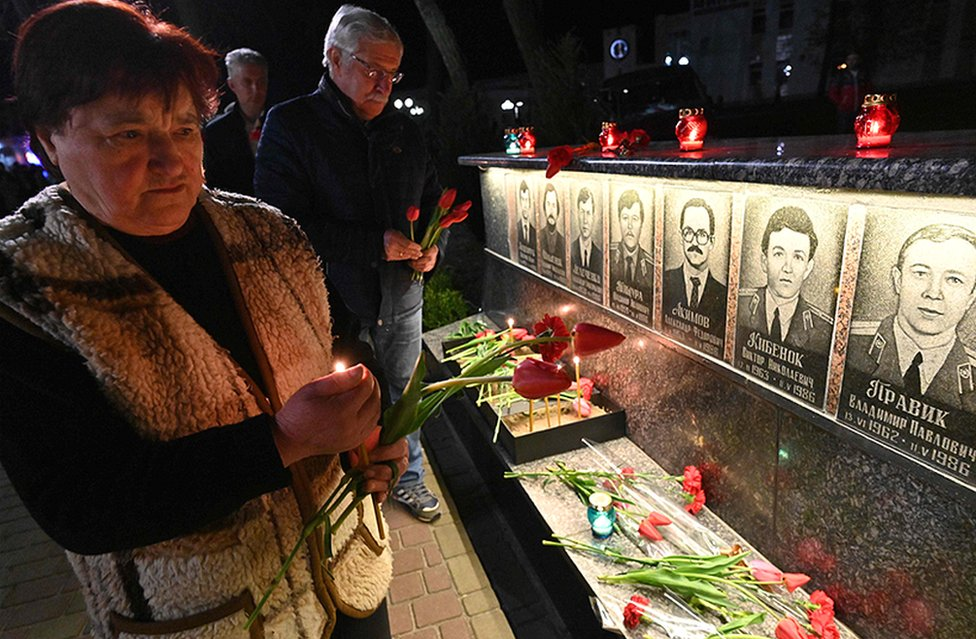 The people of Chernobyl remember those who lost their lives 33 years ago