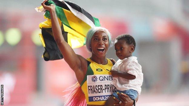 الجامايكية فريزر-برايس ثاني أسرع امرأة في التاريخ
