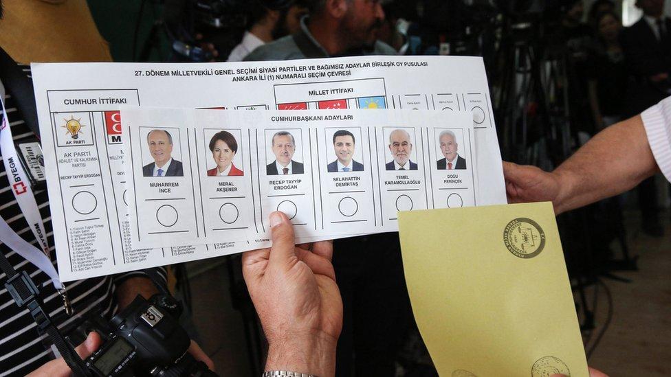 التصويت في الانتخابات التركية