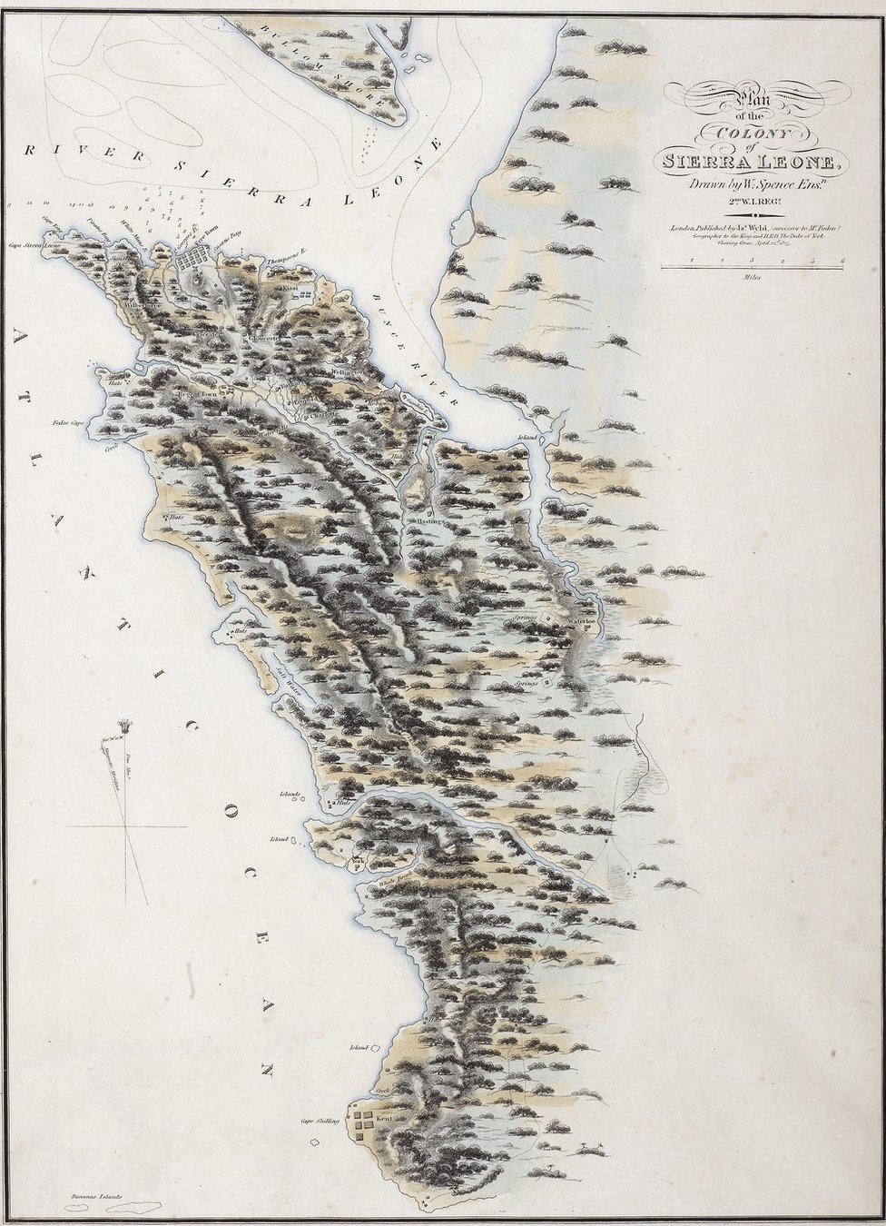 Plan of the Colony of Sierra Leone 1825