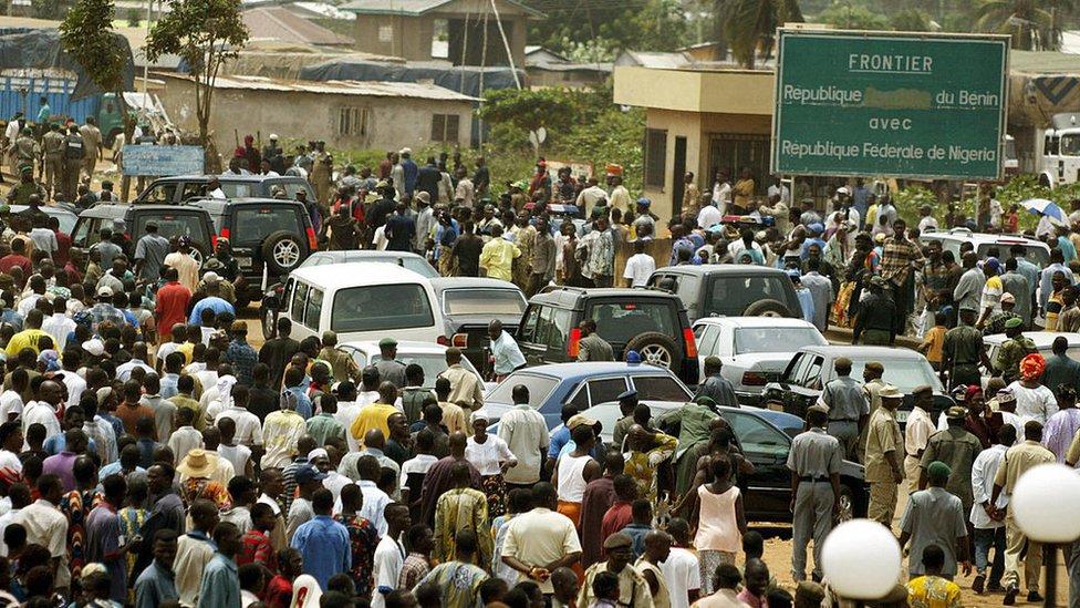 La frontera con Benín.