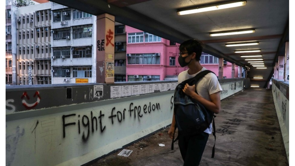 A call for freedom told through vandalism