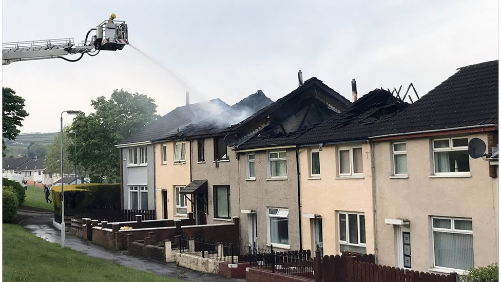 County Antrim: PSNI say fire 'may have been deliberate'
