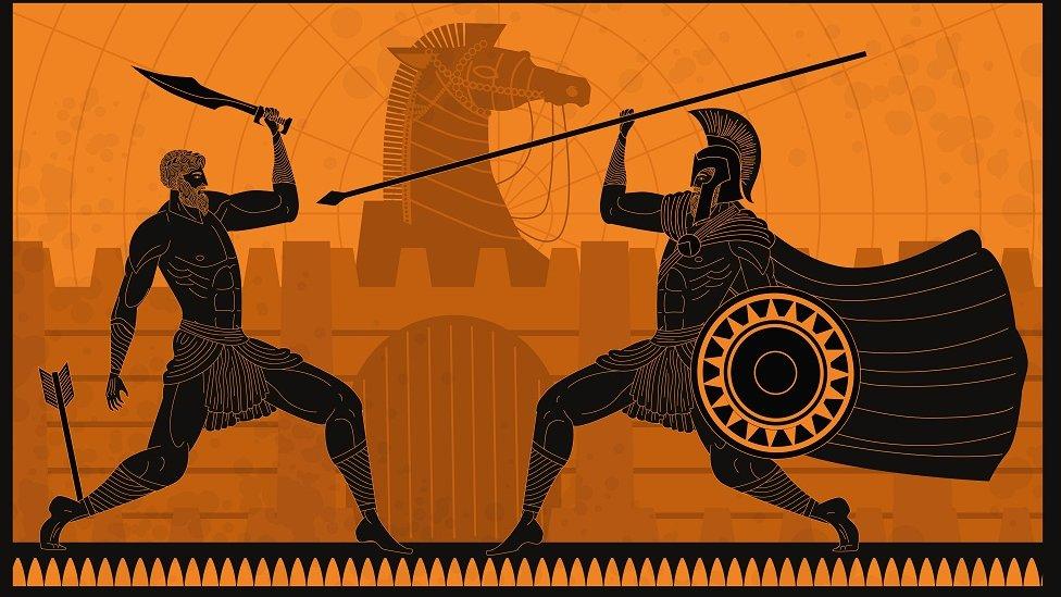 grčki ratnici ilustracija