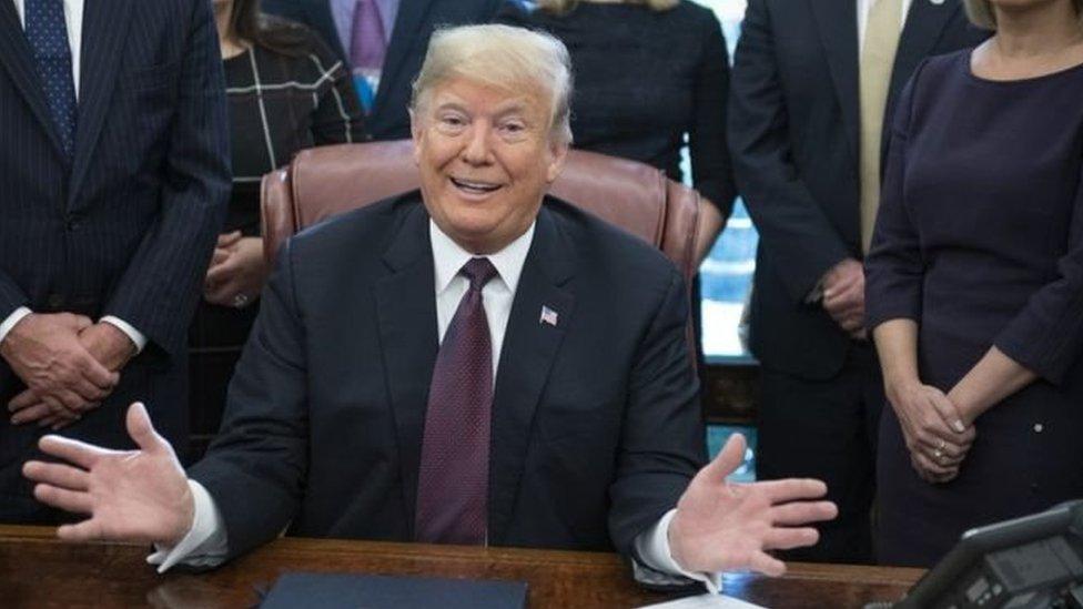 الرئيس دونالد ترامب يتحدث عن الشؤون التجارية في البيت الأبيض
