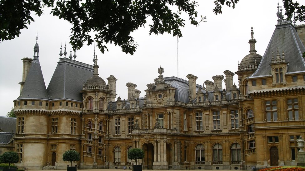 Front of Waddesdon Manor in Buckinghamshire