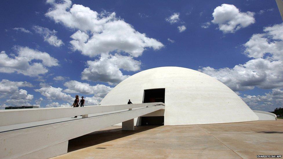 Brasilia's National Museum, work of Brazilian architect Oscar Niemeyer, inaugurated in 2007, as seen 13 December, 2007