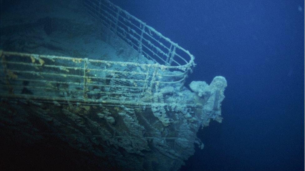 Restos del Titanic en 1996.