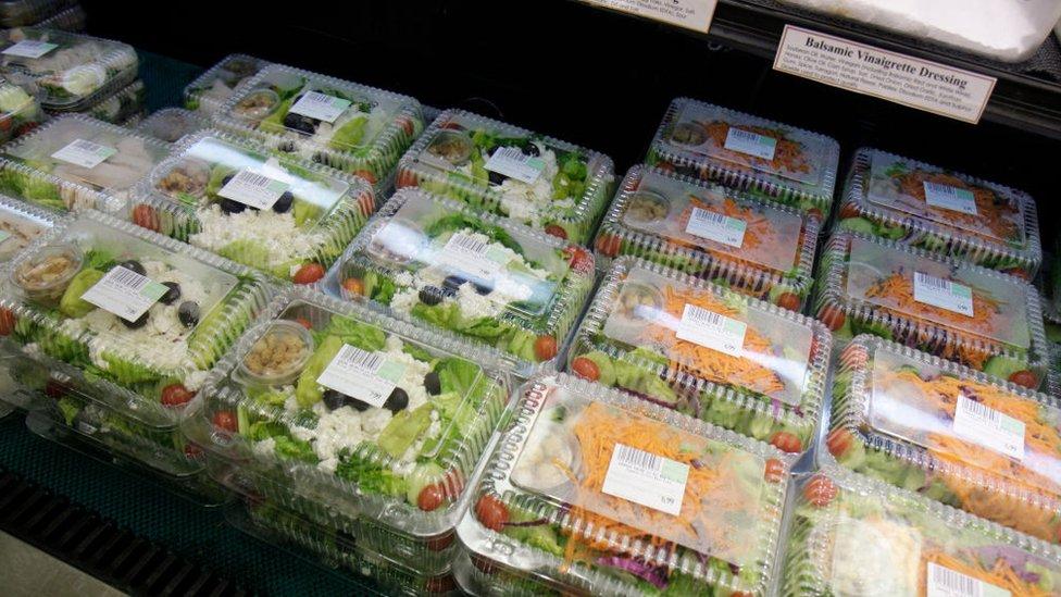 Paquetes de ensaladas