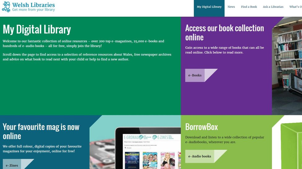 Welsh Library website