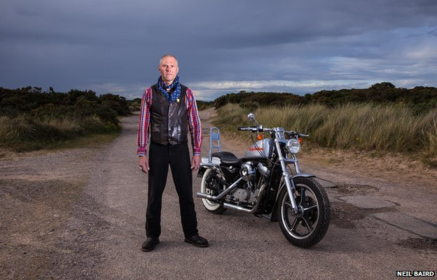 Bevis and his motorbike
