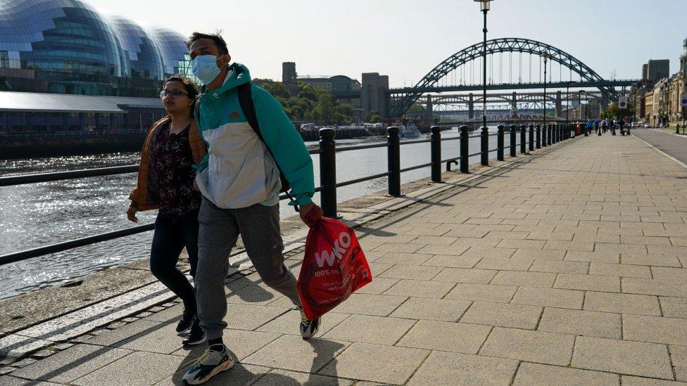 People walking in Newcastle