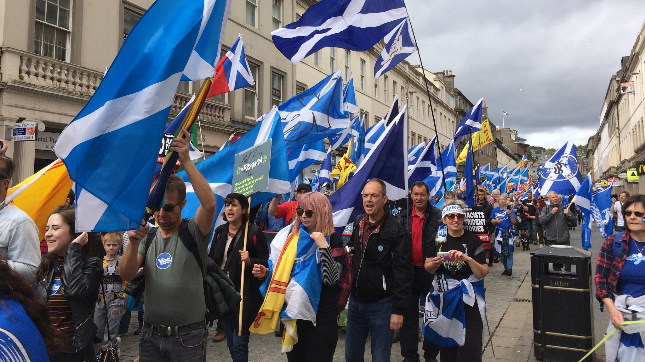 Independence march held in Dundee