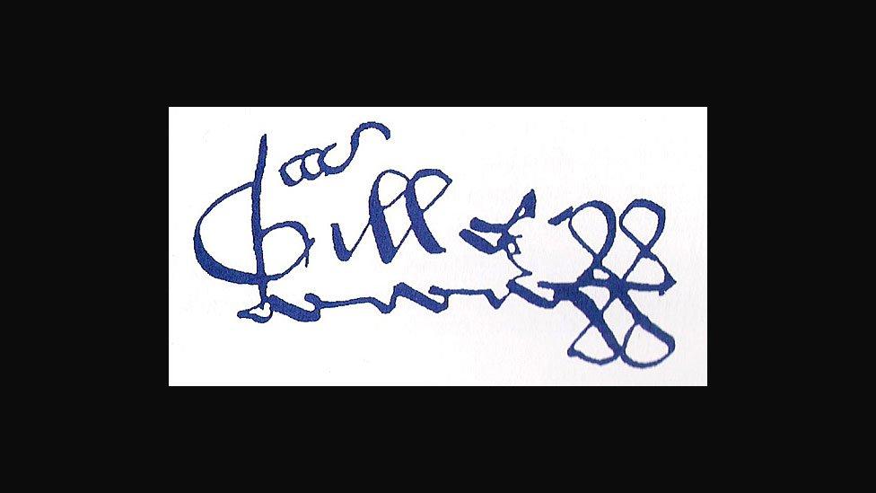 La firma de Gilles de Rais