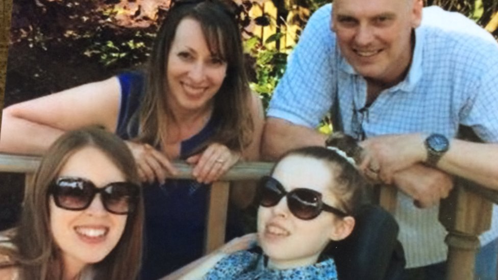 Merryn Crofts with her family