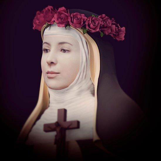 Ilustración del rostro de la santa Rosa de Lima