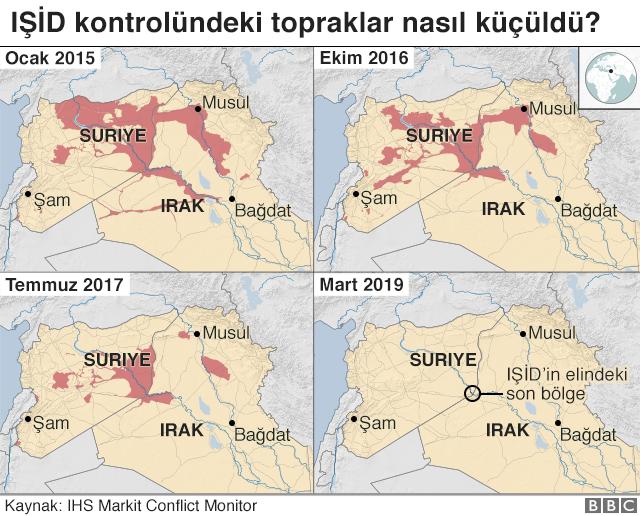 IŞİD kontrolündeki topraklar
