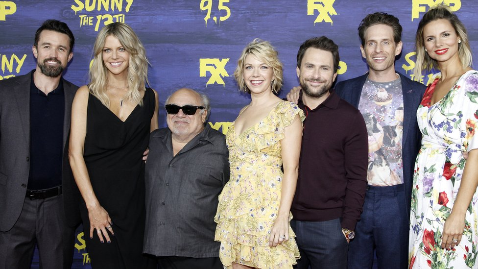 The It's Always Sunny cast attends the premiere
