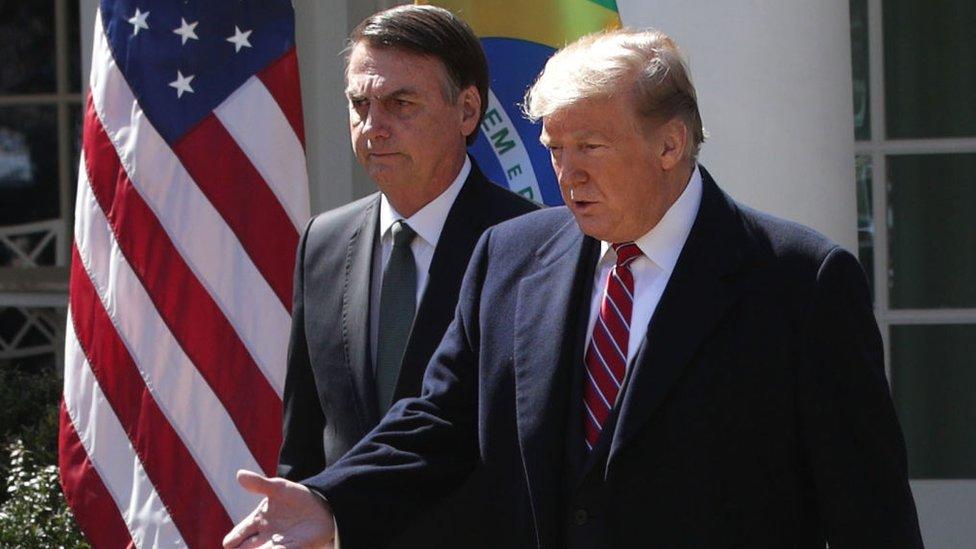 Jair Bolsonaro y Donald Trump en la Casa Blanca en marzo de 2019