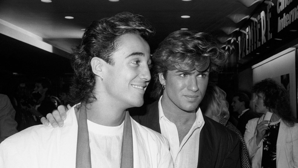 """File photo dated 08/10/84 of Wham""""s Andrew Ridgeley and George Michael"""