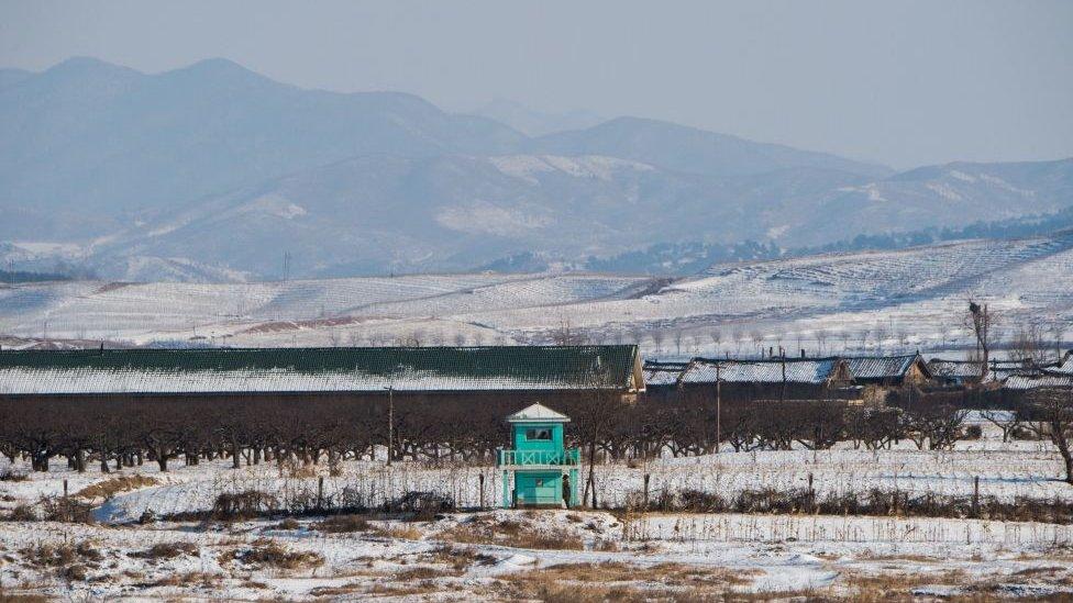 Frontera entre Corea del norte y China en la provincia china de Liaoning.