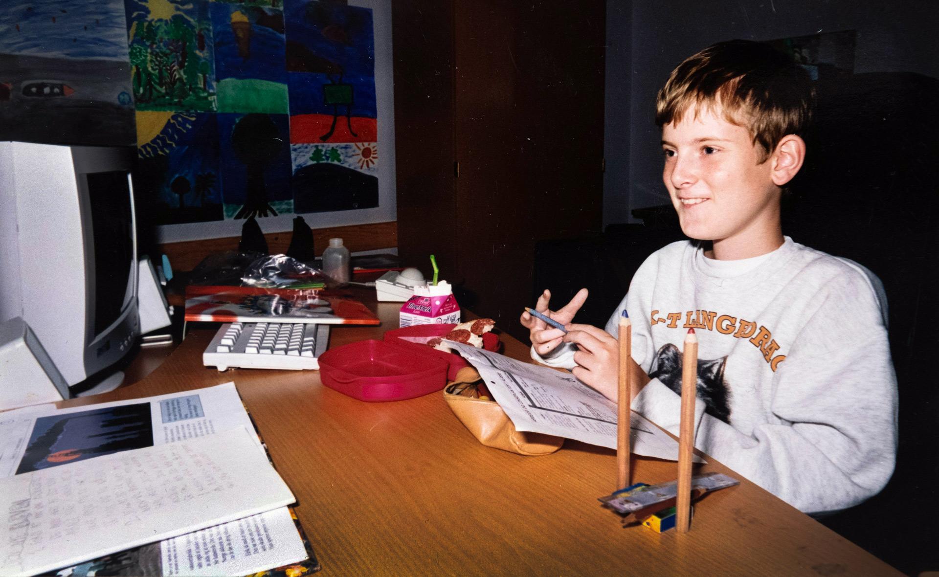 Mats Steen as a child