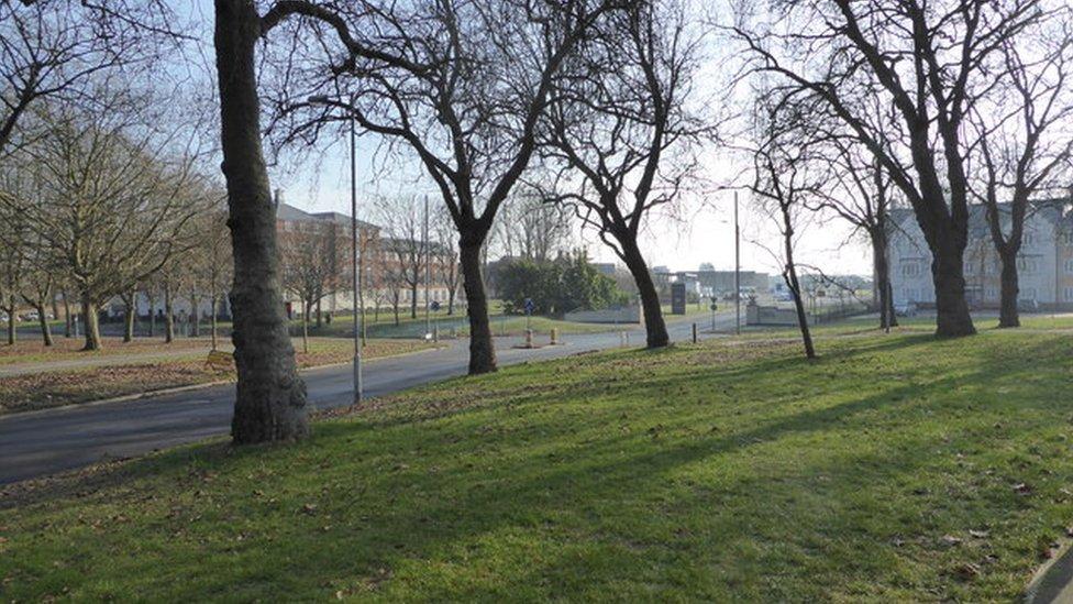 Outside Merville Barracks