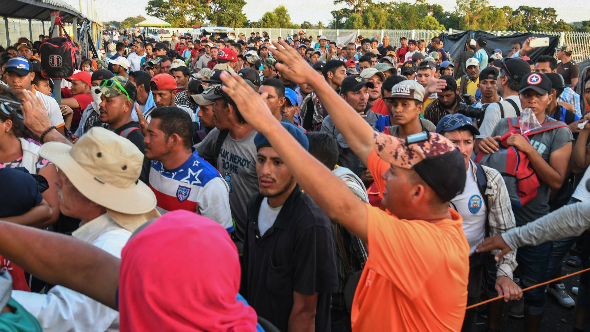 Fake news follows migrant caravan's journey north