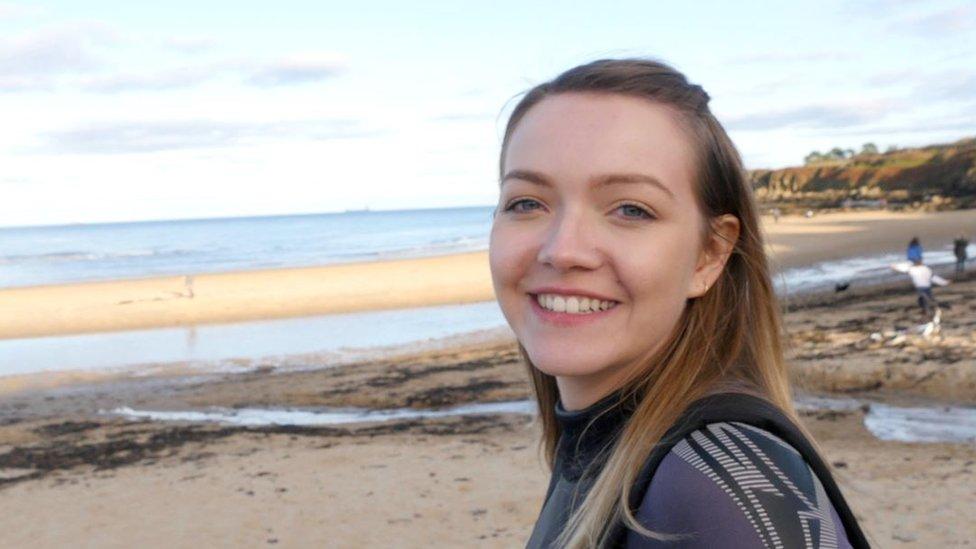 Beth on the beach