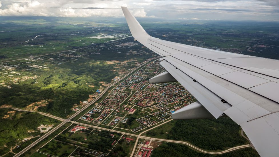 Myanmar's capital city, Nay Pyi Taw, seen from a UN flight (file photo)