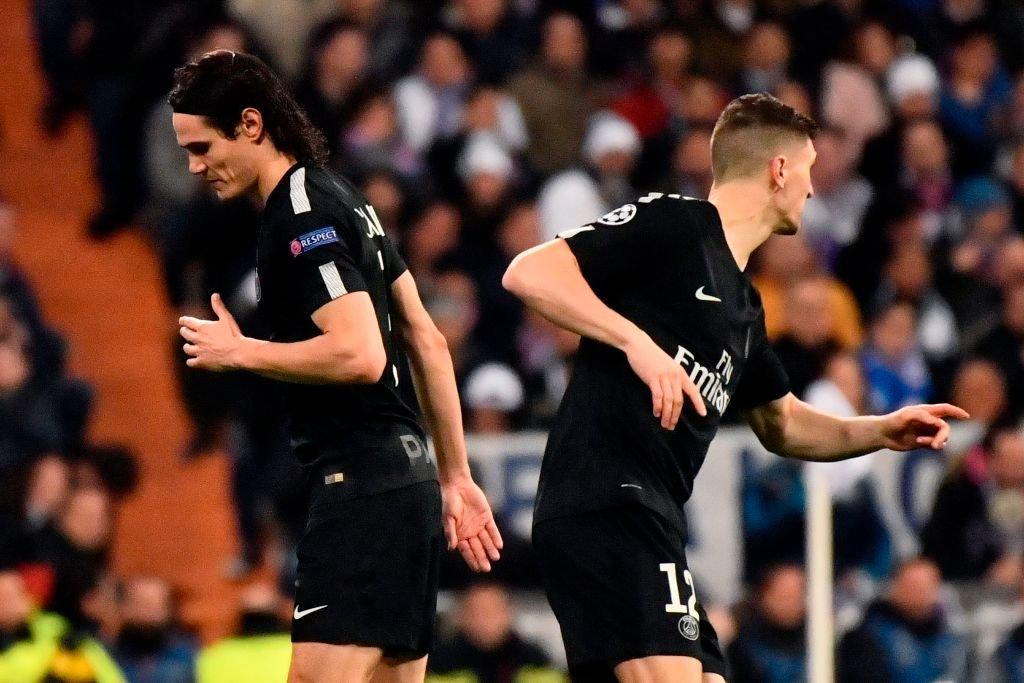 Cavani es sustituido por el defensor belga Thomas Meunier en el minuto 66 de partido y empate a uno en el marcador, momento que se considera fue crucial para el desenlace de la eliminatoria contra el Real Madrid.