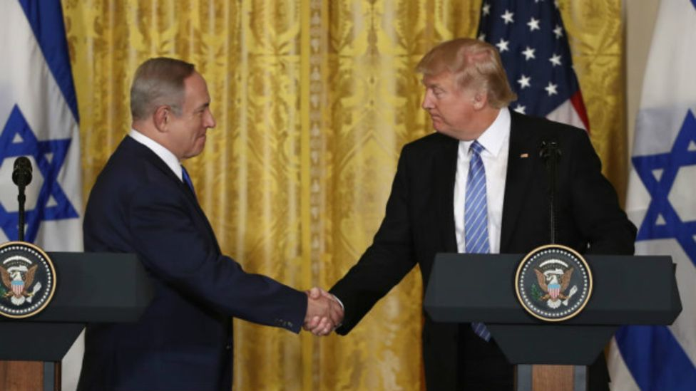 El primer ministro israelí, Benjamin Netanyahu, y el presidente estadounidense, Donald Trump.