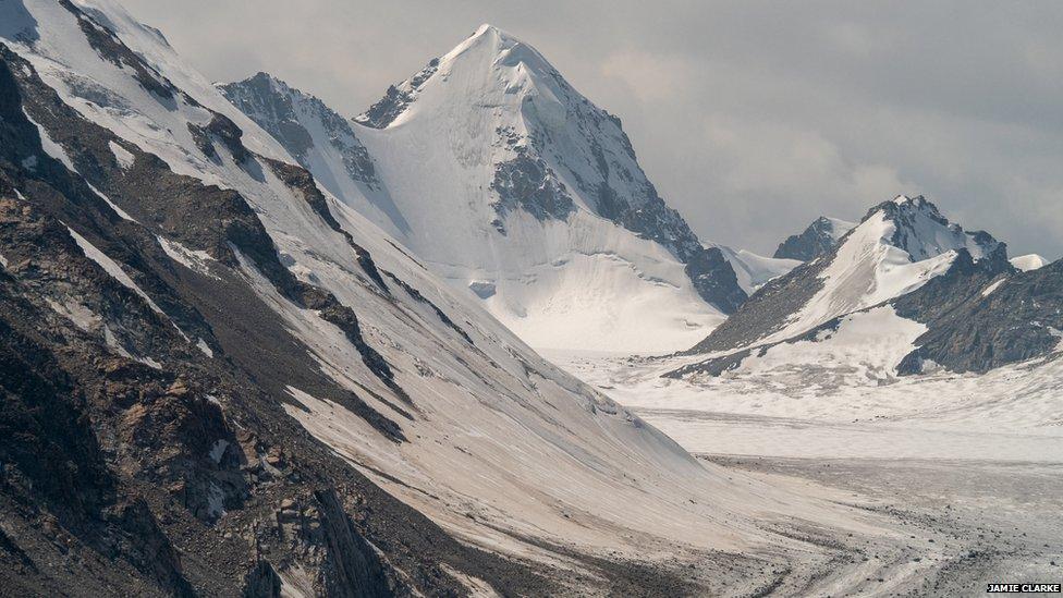 Montañas de Mongolia.