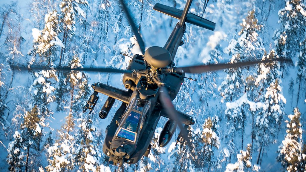 British Army Apaches in first Arctic Circle mission