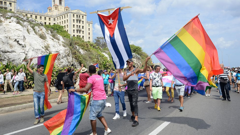 A gay pride parade in Havana on 13 May 2017